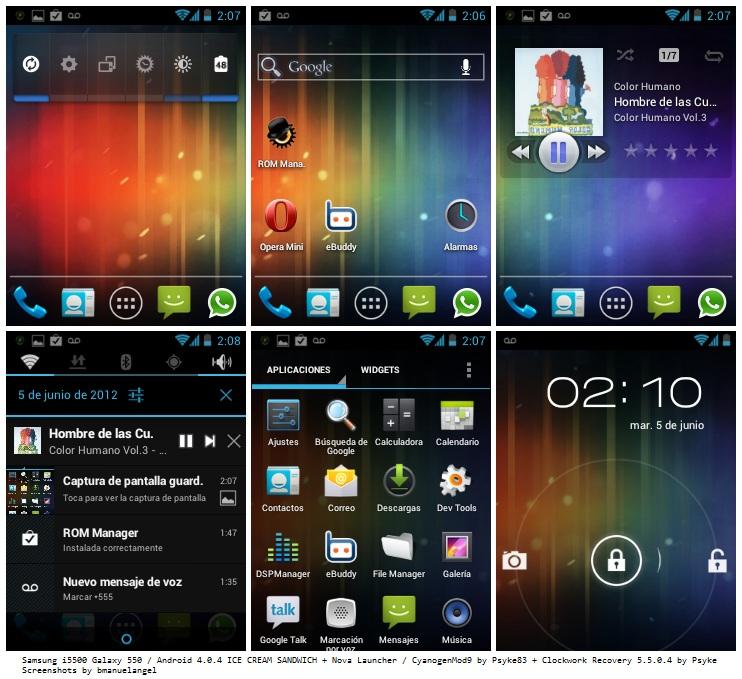 (Aporte)*Android 4.0 Para Galaxy 550