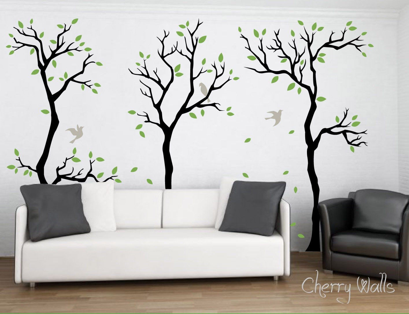 forest wall decal wall decor removable matte vinyl by