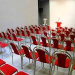 Malý sál při divadelním uspořádání