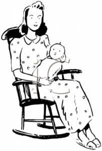 Baby Rocking Chair Clipart savoring time | The Ov...