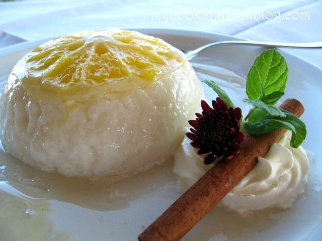 Мляко с ориз и портокали в захарен сироп