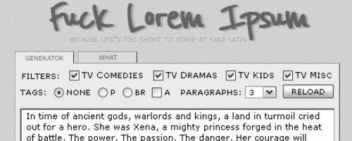 F**k Lorem Ipsum
