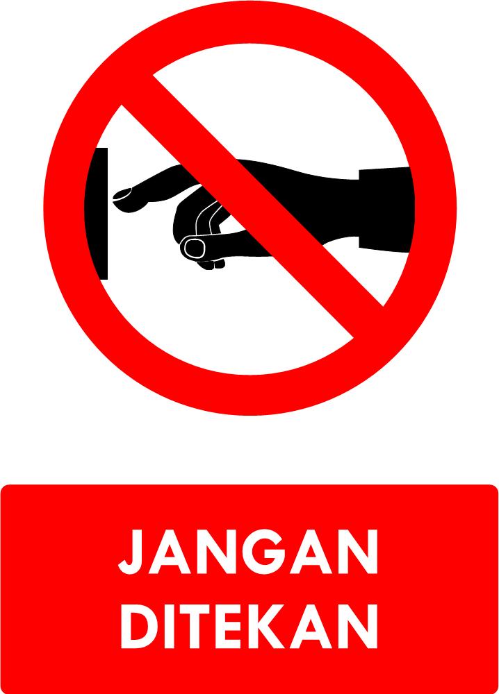 Rambu Jangan Ditekan
