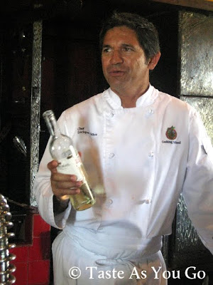 hef Enrique Silva Pours the Wine at Los Tamarindos in Los Cabos, Mexico - Photo by Taste As You Go