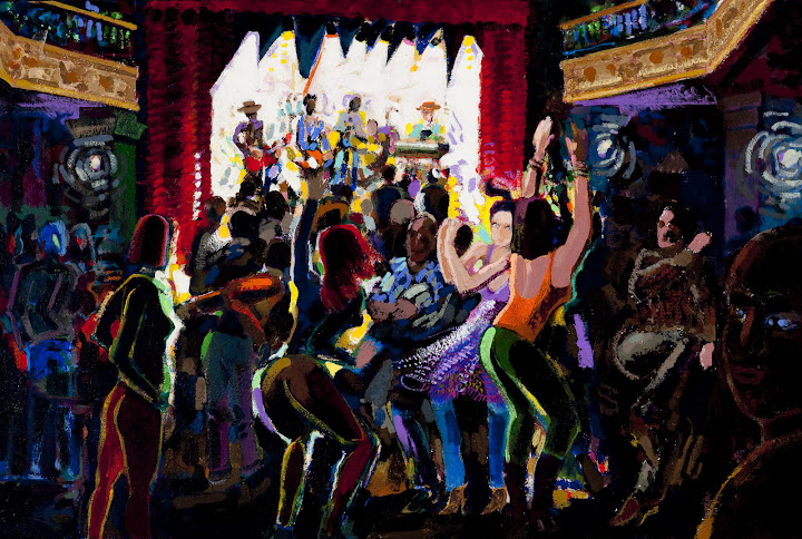 Jim Blake Art -- Jazz Club Dancers