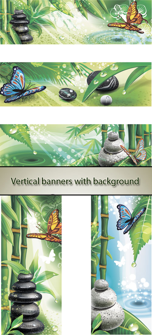 Stock: Vertical banners with background of a SPA