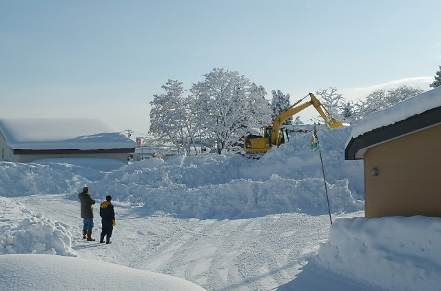 排雪場の整理