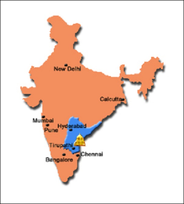 Tirupati India  city pictures gallery : WHERE IS TIRUPATI IN INDIA MAP