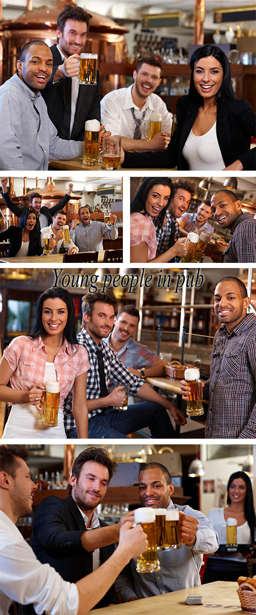 Stock Photo: Young people in pub