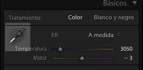 Lightroom, cuentagotas
