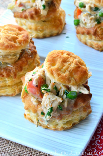 Chicken Pot Pies in Puff Pastry Shells + $900 Giveaway