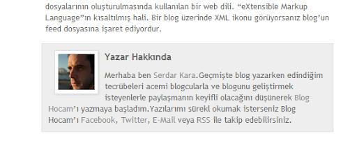 Blogger Yazar Bilgi Kutusu
