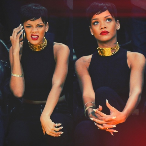 Rihanna in Trapstar London Bomber, Citizens of Humanity Jeans