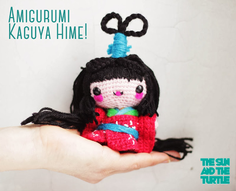 Amigurumi Kokeshi Doll - Kaguya Hime free pattern