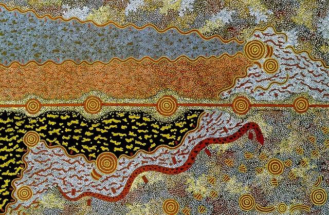 Senza dedica arte aborigena m n jagamarra cinque sogni for Arte aborigena