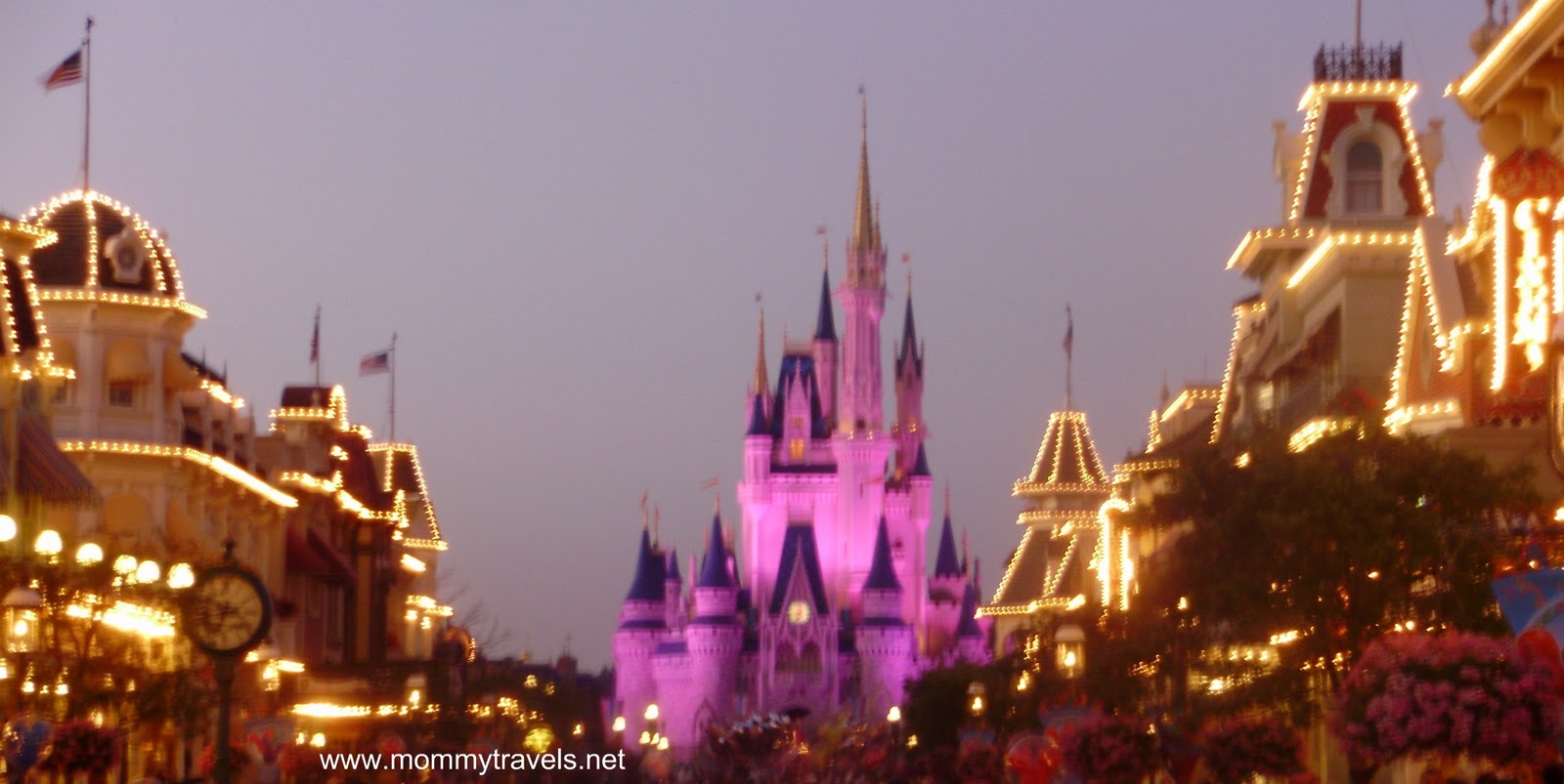 Cinderella's Castle at Magic Kingdom at Disney World at Dusk