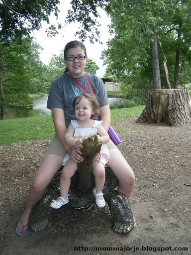 Tyler & Sasha on Bronze Turtle @ Tulsa Zoo