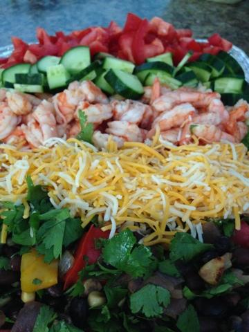 Spokane Dinner Club: Mexican Shrimp Cobb Salad with Baja Ranch ...