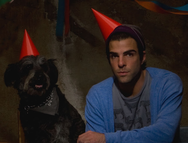 Zachary Quinto and his dog 2