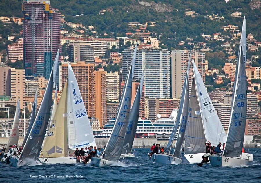 J/24s sailing off Monte Carlo, Monaco