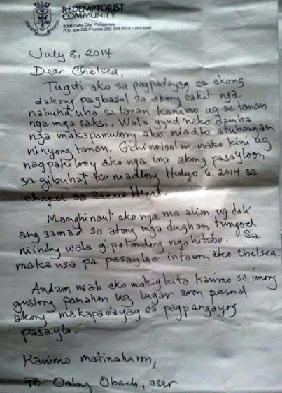 CEBU PRIEST LETTER