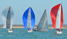 J/111 one-design class sailing spinnakers- Solent Spring Series