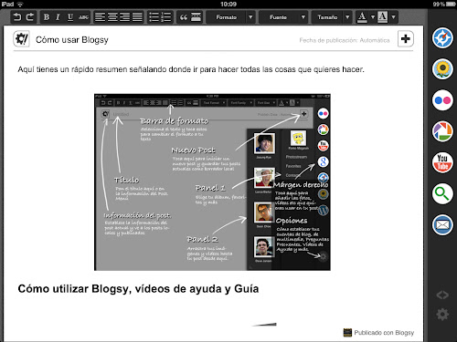 Entorno de trabajo de Blogsy
