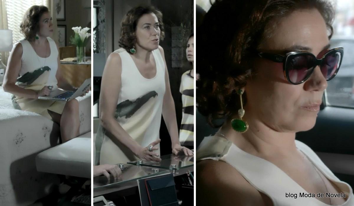 moda da novela Império, look da Maria Marta dia 18 de dezembro de 2014
