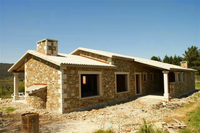 2 casas de piedra unifamiliares en construcci n - Construccion casa de piedra ...