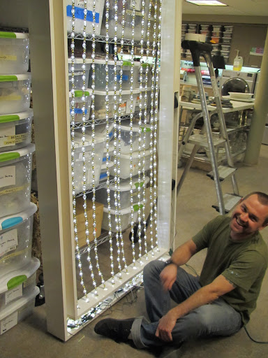 James creates a lighted bead garland