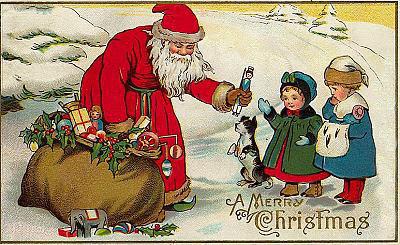 Bilder Weihnachten Nostalgisch.5 Nostalgie Weihnachtsmann Kinder Gif Sammlungen Weihnachten