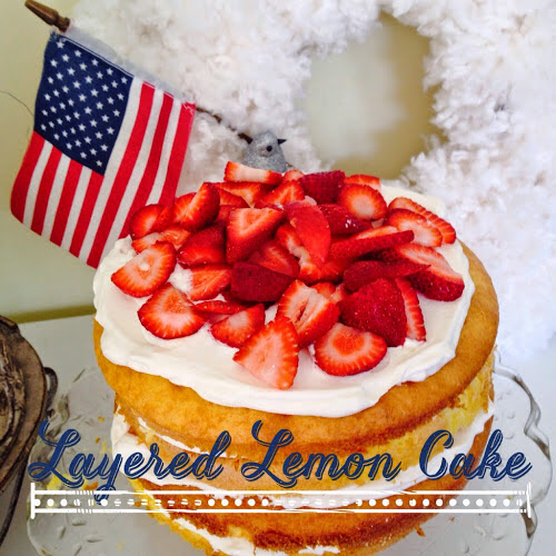 Layered lemon cake, 4th of July dessert