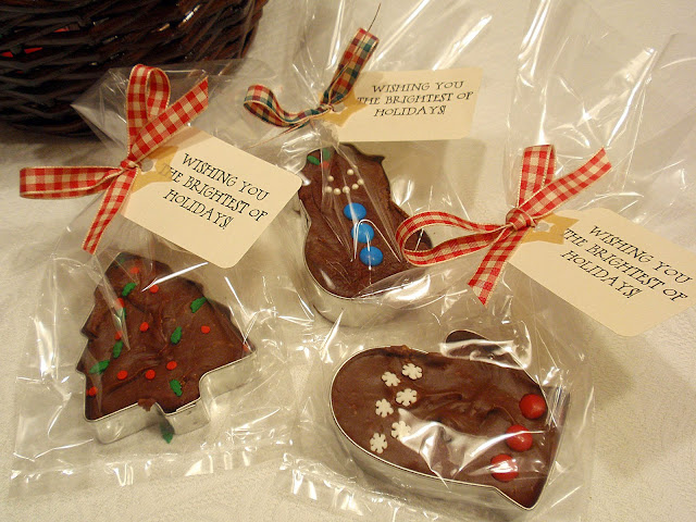 fudge cookie cutter co-worker or neighbor gift