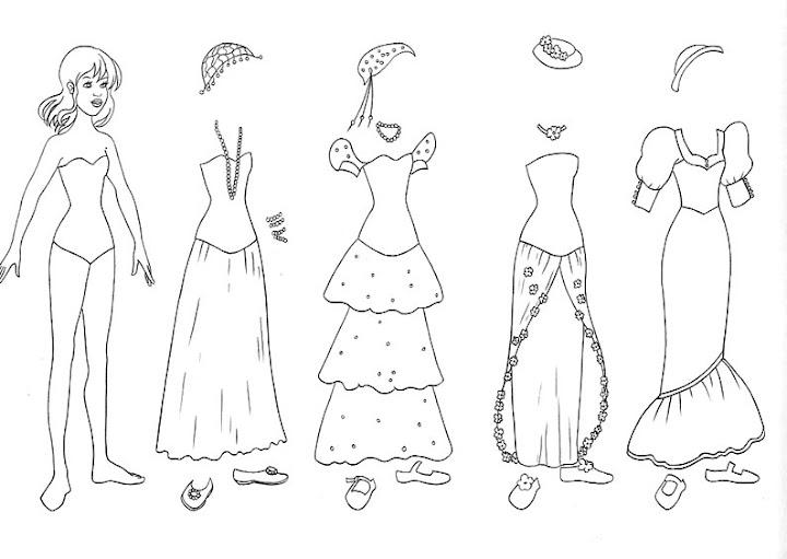 dibujos para pintar de barbie y las 12 princesas bailarinas: