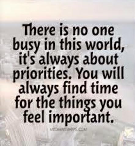 THE MEMOIR OF ME: Busy or Priority ?