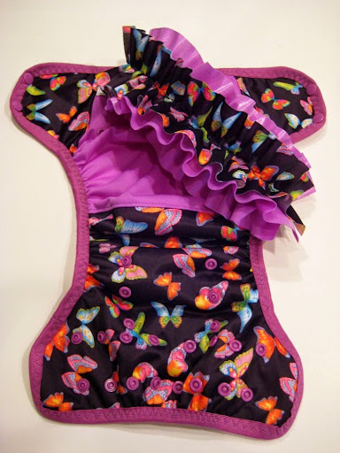 OS Butterflies with detachable ruffles Cover