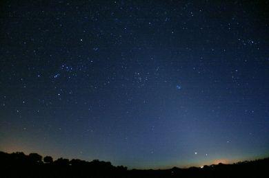 Orión y luz zodiacal - Felipe Gallego