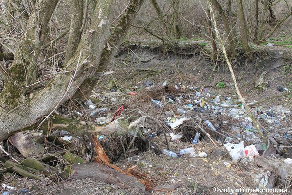 Величезне сміттєзвалище на вулиці Д.Галицько. Район Синагоги