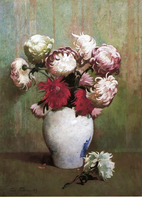 Emil Carlsen - Chrysanthemums in a Canton Vase