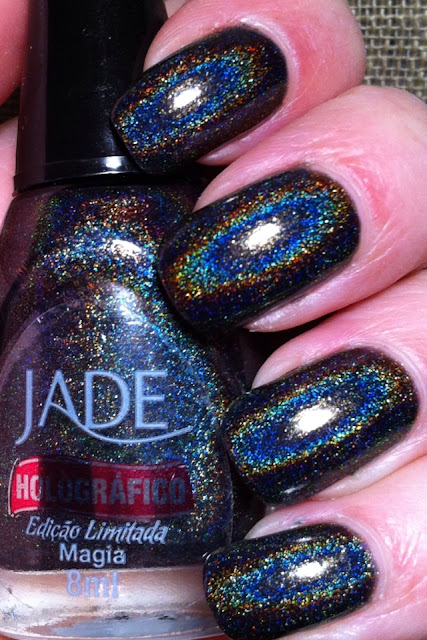 Little Miss Nailpolish: Jade Holográfico Magia - swatches and review