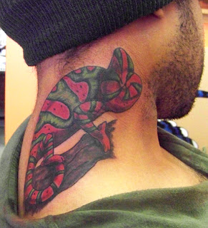 Watermelon Chameleon Tattoo