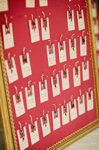 vintage keys escort cards