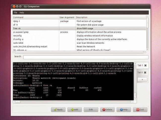 CLI Companion: interfaz de ayuda con todos los comandos de Linux y terminal integrada