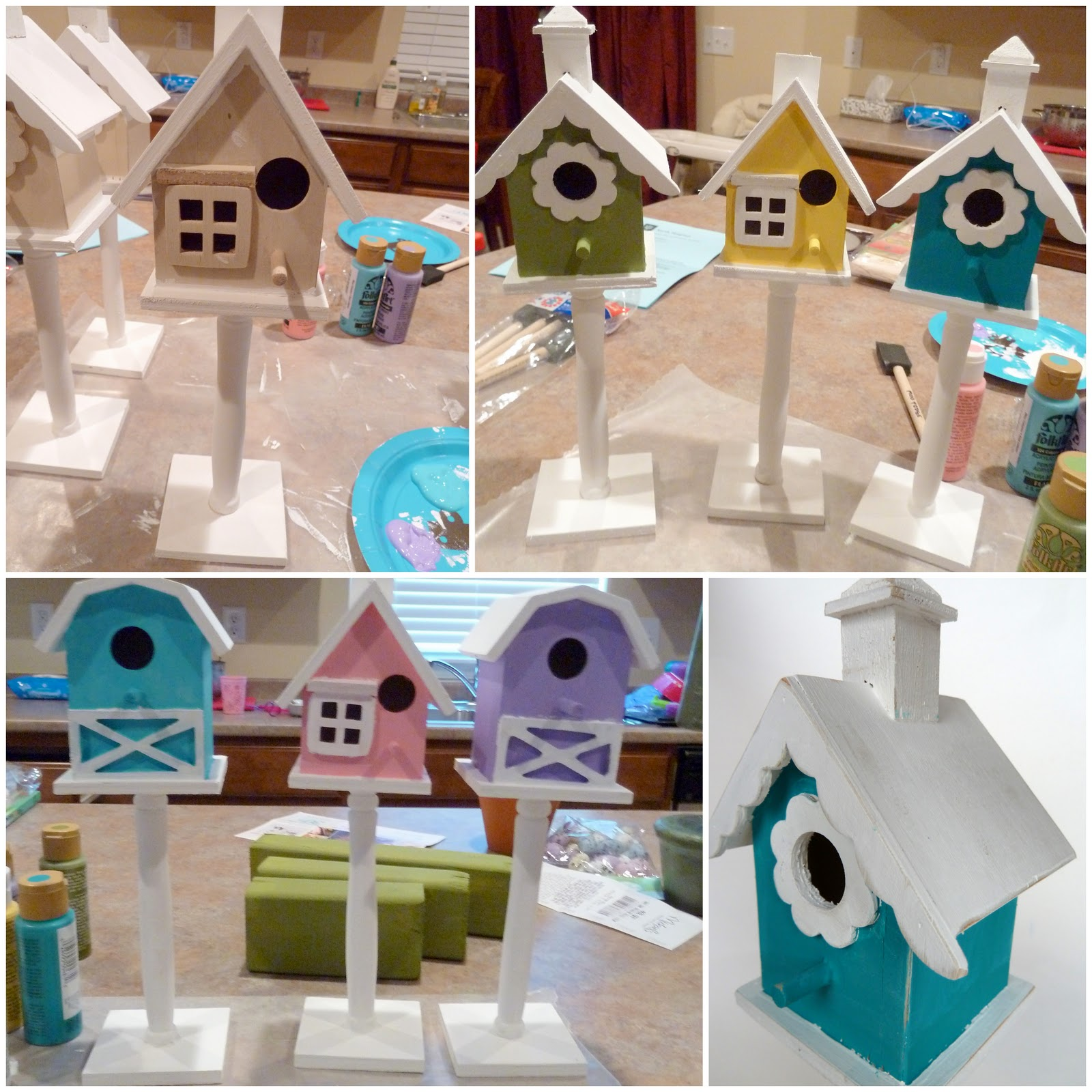 Christmas Birdhouses Crafts