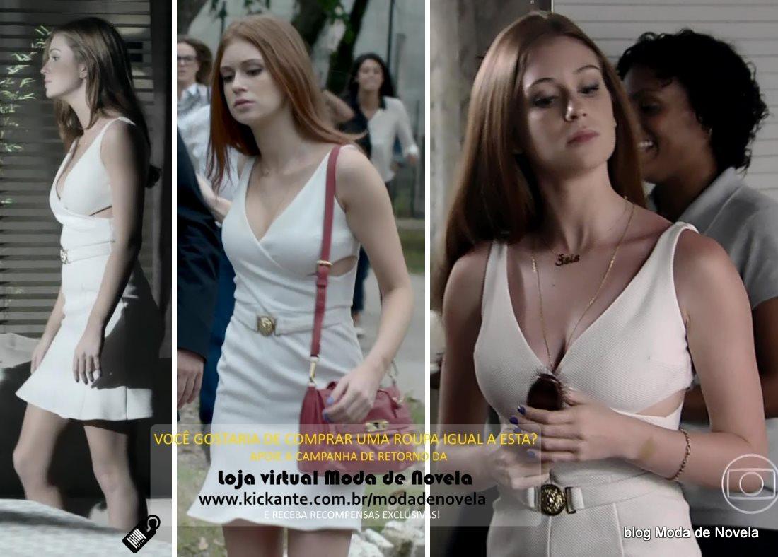 moda da novela Império, look da Maria Isis dia 7 de fevereiro de 2015