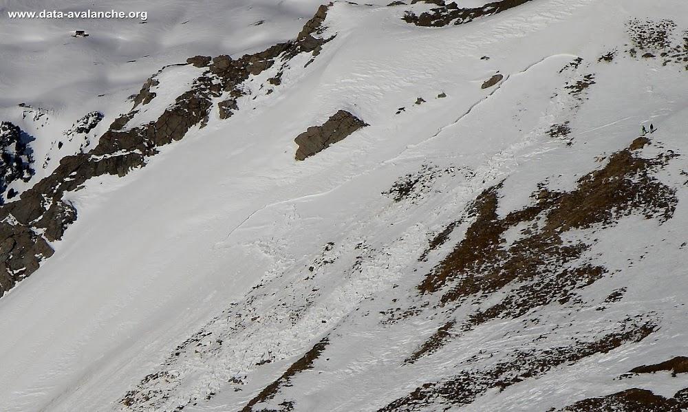 Avalanche Mont Thabor, secteur Rocher d'arrondaz, Sous le Col d'Arrondaz, Valfréjus - Photo 1