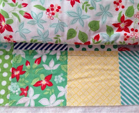 First line of quilting