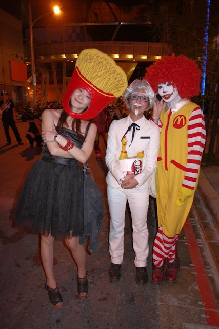 McDonald's and KFC Halloween costumes