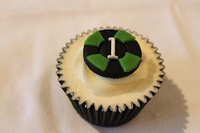 Green Cassino Cupcake Playing Chip