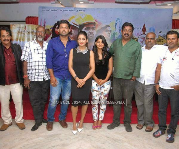 The cast and crew of Vaastu Prakara at the press meet in Bangalore.